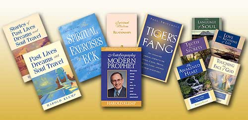 A few of the many spiritual books and study aids published by Eckankar, Religion of the Light and Sound of God.