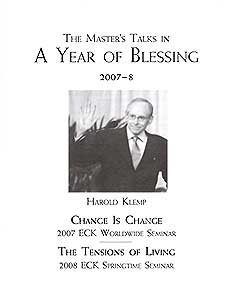 The Master's Talks in A Year of Blessing—2007–8