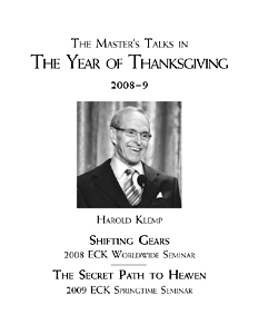 The Master's Talks in The Year of Thanksgiving—2008–9