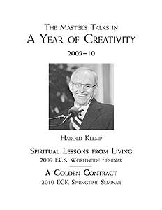 The Master's Talks in A Year of Creativity—2009–10