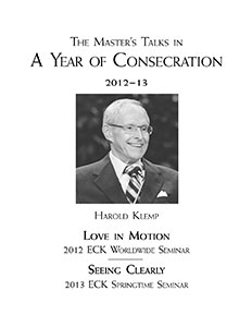 The Master's Talks in A Year of Consecration—2012–13